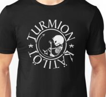 Turmion Kätilöt transpharent demonic skeleton baby logo Unisex T-Shirt