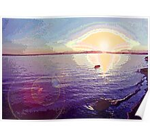 Puget Sound Sunset 2 Poster