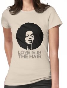 Love is in the hair Womens Fitted T-Shirt