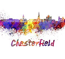 Chesterfield skyline in watercolor by paulrommer