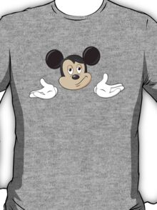 Mickey Mouse Shrug shrugging emoticon ¯\_(ツ)_/¯ emoji T-Shirt