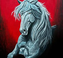 """You Give Me Strength"" - Acrylic Painting by SD 2010 Photography & Equine Art Creations"