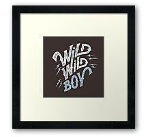 Wild Wild Boy Framed Print