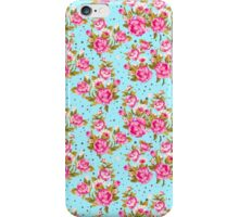 Modern Vintage Girly Pink Elegant Floral Pattern iPhone Case/Skin