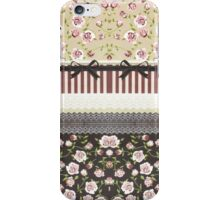 Elegant Girly White Lace And Pink Roses iPhone Case/Skin