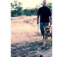 Scott and the Lion - Zimbabwe Photographic Print