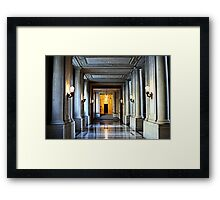 Just Down The Hall Framed Print