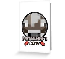 Minecraft-cow Greeting Card