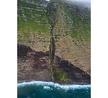 Molokai Maui Waterfall Photographic Print