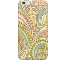 Hipster Girly Paisley Pink Green Floral Pattern iPhone Case/Skin