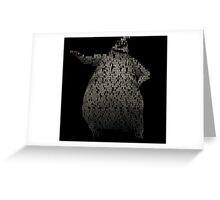 Oogie Boogie Typography Greeting Card