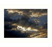 The Clouds Talk And I listen Art Print