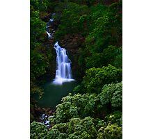 Puohokamoa Waterfalls  in Maui, Hawaii Photographic Print