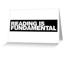 Reading is FUNDAMENTAL Greeting Card