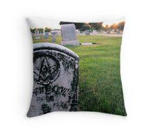 Headstone Throw Pillow