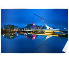 Samuel Beckett Bridge in Dublin, Ireland Poster