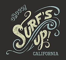 Surf's Up hand-lettering by PaulMalyugin