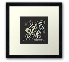Surf's Up hand-lettering Framed Print