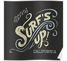 Surf's Up hand-lettering Poster