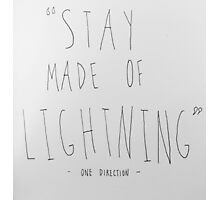 "Girl Almighty - ""Stay Made of Lightning"" Photographic Print"
