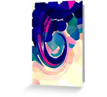 Psychedelic Paint Swirl Greeting Card