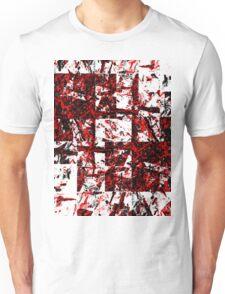 Red and Black Blocks Unisex T-Shirt