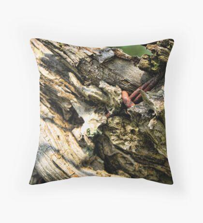 Wooden Throw Pillow