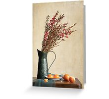Heather and Oranges Greeting Card