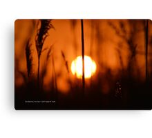 Sunset Cut In Half   East Moriches, New York  Canvas Print
