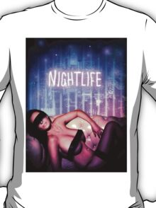 Nightlife girl eye band woman wedding party T-Shirt