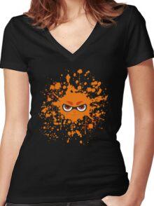 Inkling Splatter Women's Fitted V-Neck T-Shirt