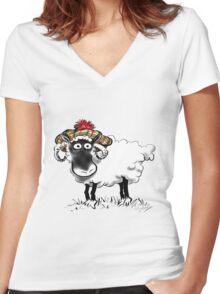 Rabbie Baa-rns Women's Fitted V-Neck T-Shirt