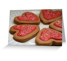Gingerbread Hearts Greeting Card