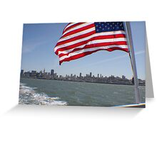 Flag in San Francisco.... Greeting Card