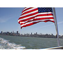 Flag in San Francisco.... Photographic Print