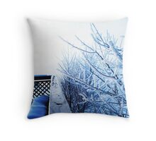 Morning's Frost Throw Pillow