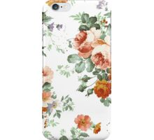 Romantic Red Orange Retro Girly Roses Floral iPhone Case/Skin