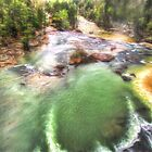 Little River Colors and Mist by Noble Upchurch