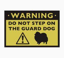 Humorous Pomeranian Guard Dog Warning by Jenn Inashvili