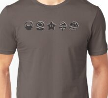 Black mario items (white shadow) Unisex T-Shirt