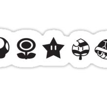 Black mario items Sticker
