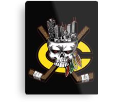 Chicago Blackhawks Skyline Metal Print