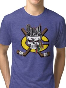 Go Chicago Skyline Tri-blend T-Shirt