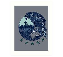 Seattle Seahawks Skyline Art Print