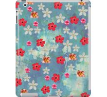 Cute Watercolor Tropical Red White Flowers  iPad Case/Skin