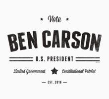 Vote Ben Carson 2016  by morningdance