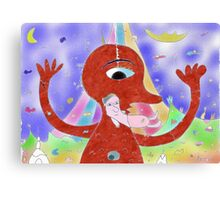 """Inner child""-Children Colorful Fantasy Stories Canvas Print"