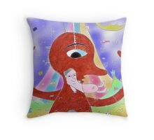 """Inner child""-Children Colorful Fantasy Stories Throw Pillow"