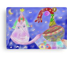 """Good Heavens""-Children Colorful Fantasy Stories Canvas Print"