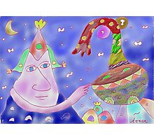 """Good Heavens""-Children Colorful Fantasy Stories Photographic Print"
